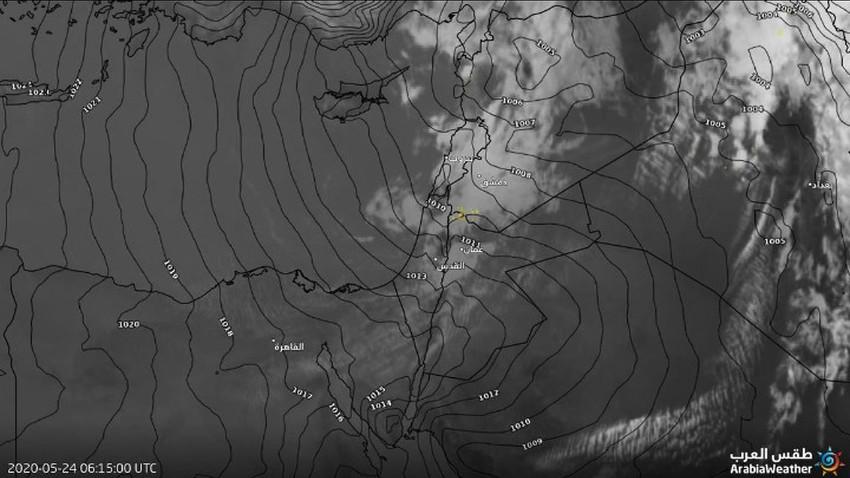 تحديث | سحب ممطرة وقوية تؤثر على شمال المملكة....