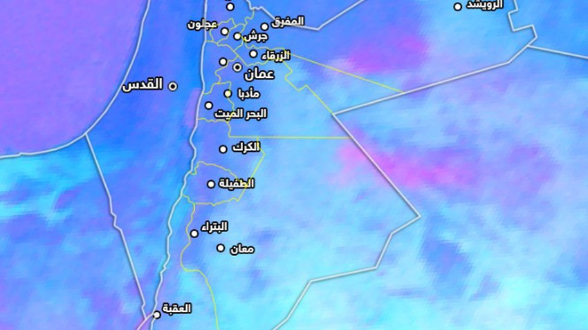 الأردن | موجة غبارية شرق المملكة واخرى تدخل خلال الساعات القادمة ....