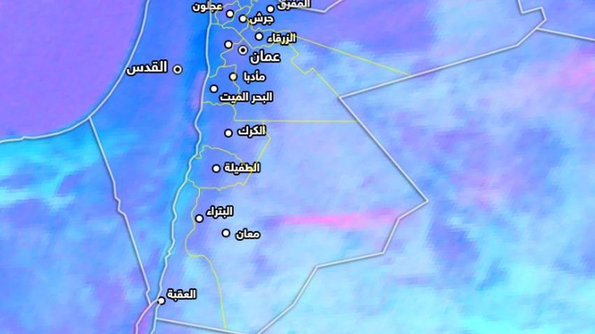 الأردن   موجات غبارية جنوب شرق وشرق المملكة الآن..