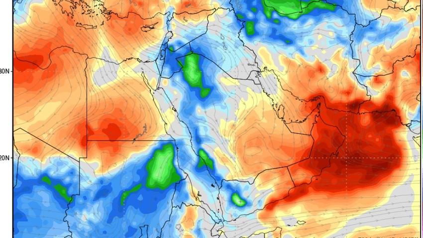 كتلة هوائية معتدلة تزور البلاد الأسبوع القادم