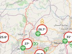 Jordan Twentieth temperatures experienced in most regions of the Kingdom recorded 23 degrees in the highlands