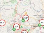 الأردن | درجات حرارة عشرينية تشهدها معظم مناطق المملكة سجلت 23 درجة في المرتفعات