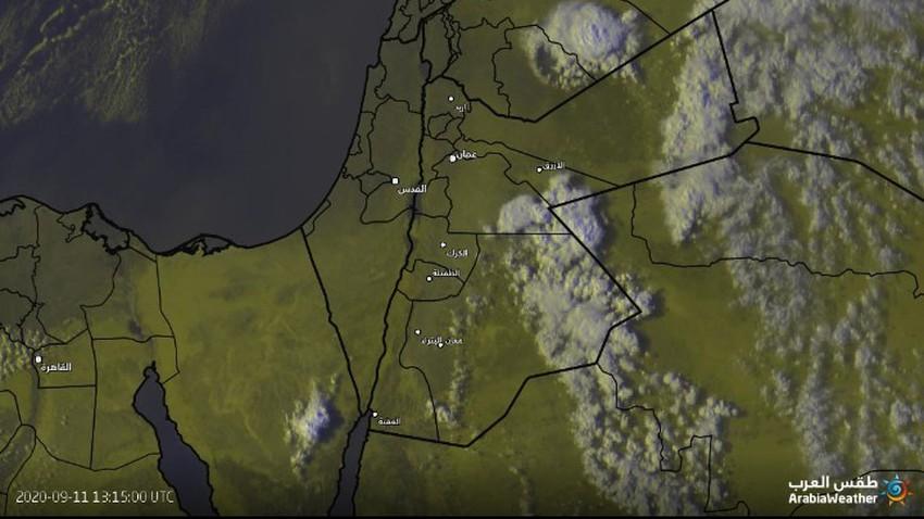 الأردن | شرق معان،سحب رعدية قوية وتنبيه من السيول