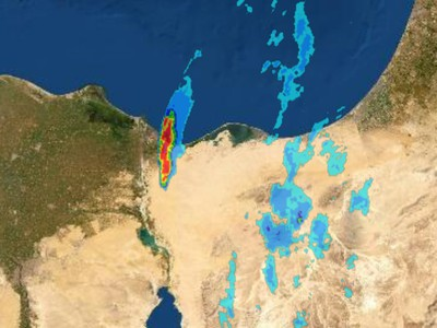 Strong cloud affects northeastern Egypt