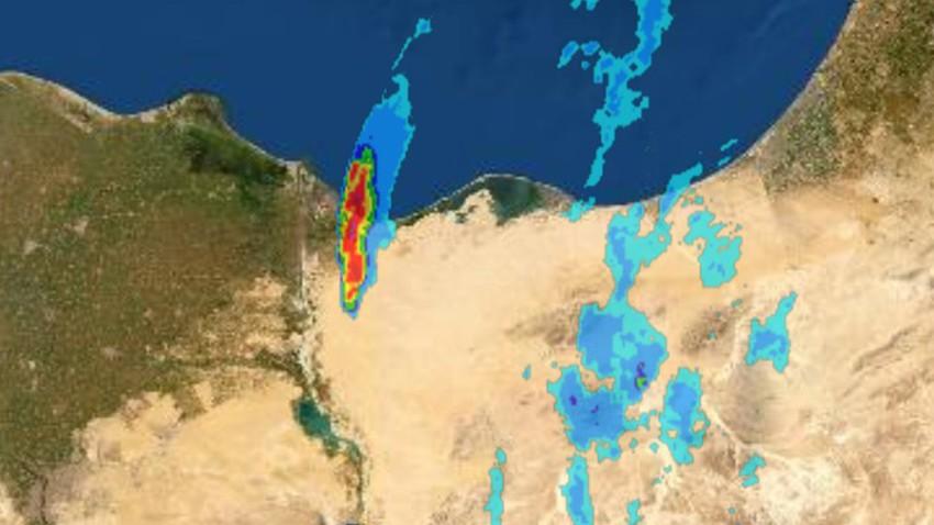 سحابة قوية تؤثر على شمال شرق مصر