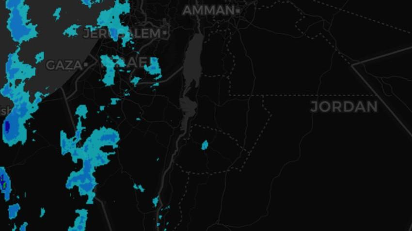 تحديث | أمطار على مناطق مختلفة من فلسطين وعلى أجزاء من جنوب الأردن