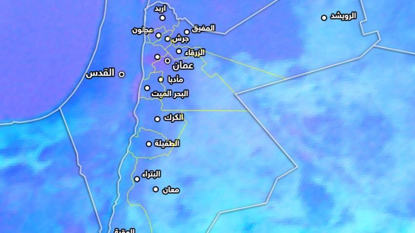 موجة غبارية تؤثر على غرب العاصمة عمان وامتداد تأثيرها لمحافظة البلقاء