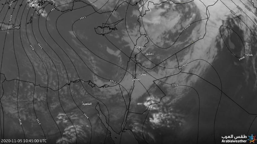 تحديثات المنخفض الجوي | تراجع تأثير المنخفض الجوي عن عموم المناطق وبقاء فرص الامطار واردة
