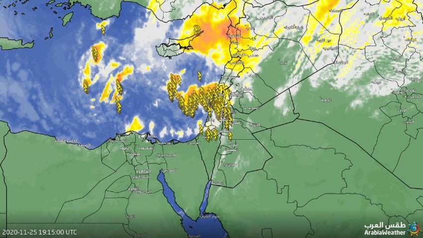 الأردن | سُحب رعدية تؤثر على شمال ووسط المملكة