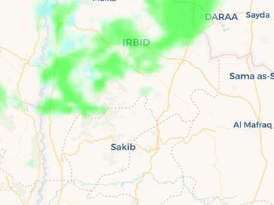 تحديث | زخات امطار تشهدها المناطق الشمالية الان