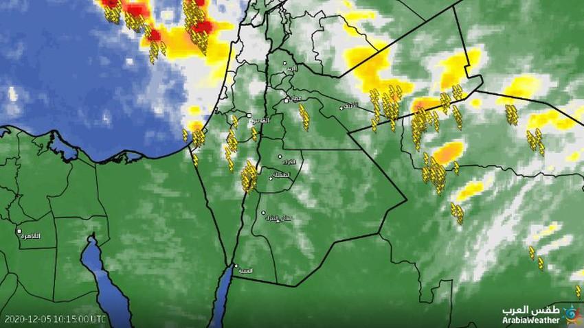 الأردن-تحديث | سُحب رعدية تؤثر على مناطق متفرقة واستمرار تأثير حالة من عدم الاستقرار الجوي