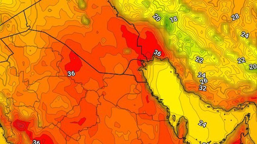 الكويت | ارتفاع اضافي على درجات الحرارة الأربعاء