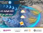 الأردن | إمتداد ضعيف لمُنخفض جوي يترافق بكتلة هوائية ذات درجات حرارة اقل من المُعتاد الخميس والجمعة