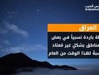 العراق | ليلة الأحد/الإثنين ستكون باردة نسبياً في بعض المناطق بشكلٍ غير مُعتاد نسبةً لهذا الوقت من العام
