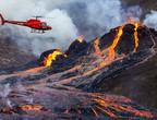 بالفيديو | طائرة درون تلتقط مشهد قريب ومهيب لثوران بركان آيسلندا