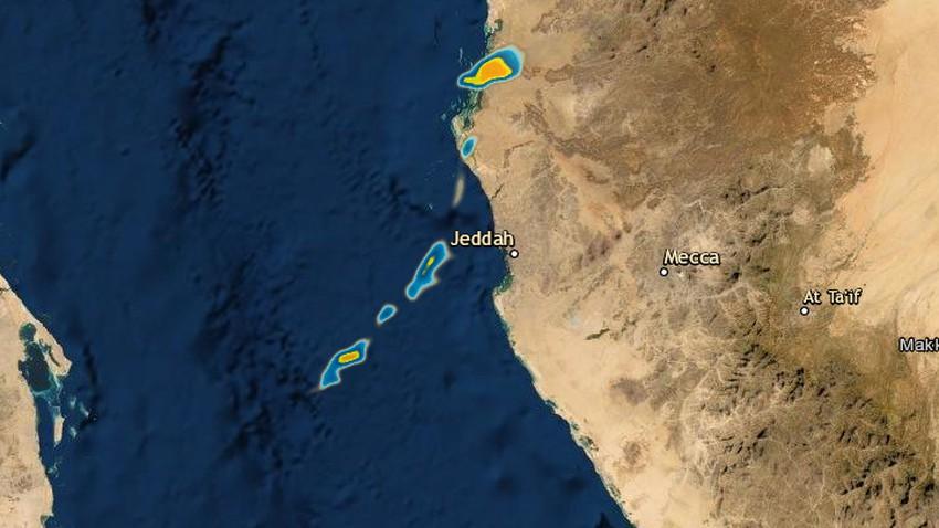 تحديث 7:15 صباحا | سُحب رعدية ماطرة قبالة سواحل جدة الآن .. وفرص الأمطار تتزايد الساعات القادمة