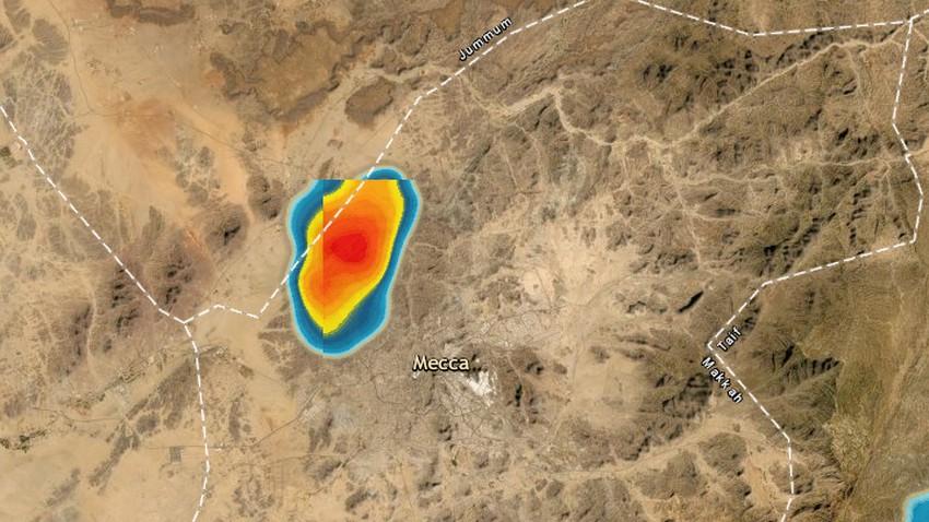 تحديث 4:45م | تطور لافت لسُحب ركامية رعدية شمال مكة المكرمة والأمطار محتملة الساعة القادمة