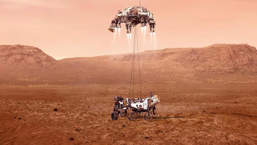 هبوط المركبة الفضائية على المريخ