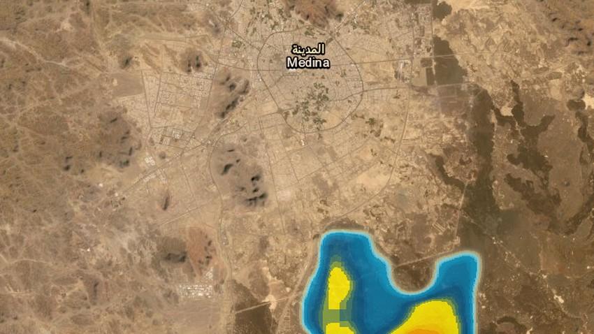 المدينة المنورة | تنبيه من أمطار رعدية محتملة خلال الساعة القادمة .. شاهد الرادار