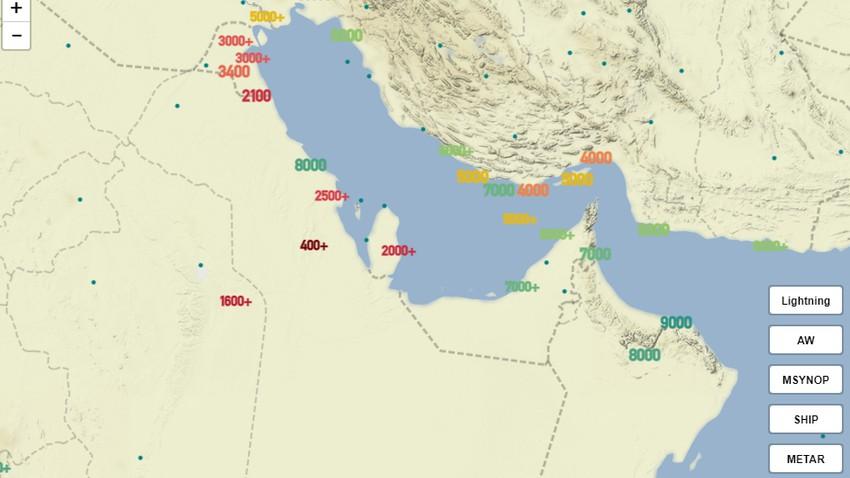 عاجل | موجات غبارية كثيفة تضرب الهفوف وشرق منطقة الرياض الان والرؤية الأفقية لاتتجاوز الـ 400 متر!