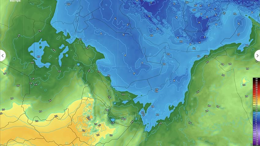 سلطنة عمان والإمارات | استمرار الاجواء الباردة خلال الأسبوع الحالي وفرص لعودة الضباب