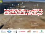الأردن | حالة الطقس ودرجات الحرارة المتوقعة ليوم الثلاثاء 31/3/2020