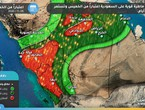 Increasing indications of the strength of the rainy situation affecting the city of Jeddah on Thursday