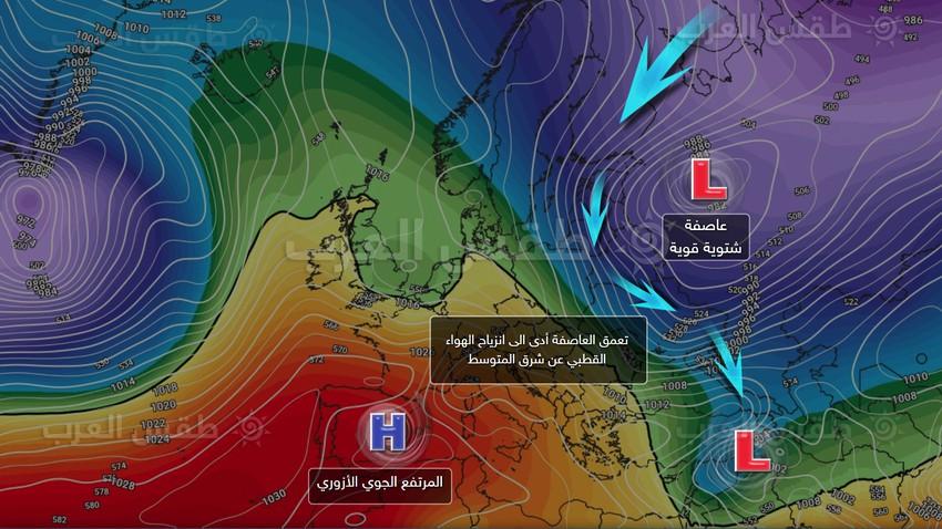 بالخرائط التوضيحية والعلمية .. أبرز خصائص المنخفض الجوي الحالي الذي يعتبر الأقوى هذا الموسم