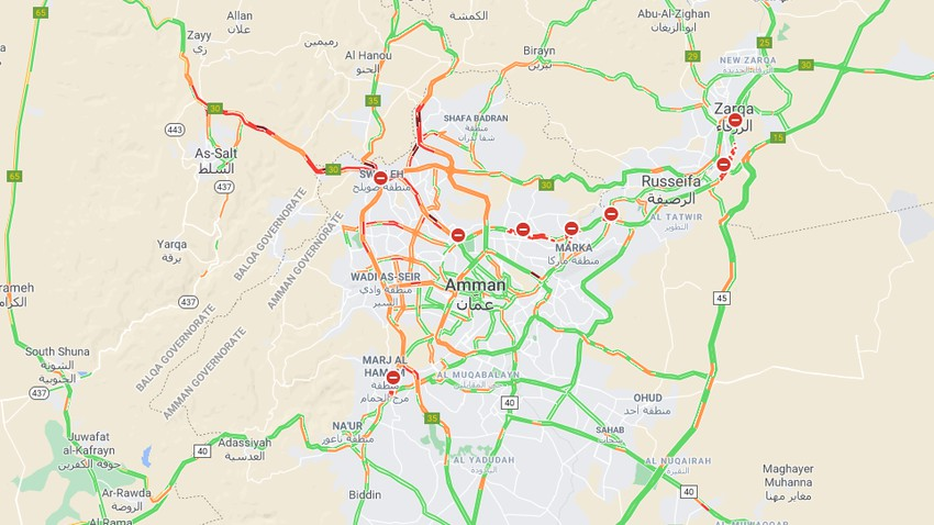 Important - many roads northwest of the capital experience traffic jams due to the start of snow accumulations