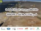 الأردن | حالة الطقس ودرجات الحرارة المتوقعة ليوم الأحد 29/3/2020