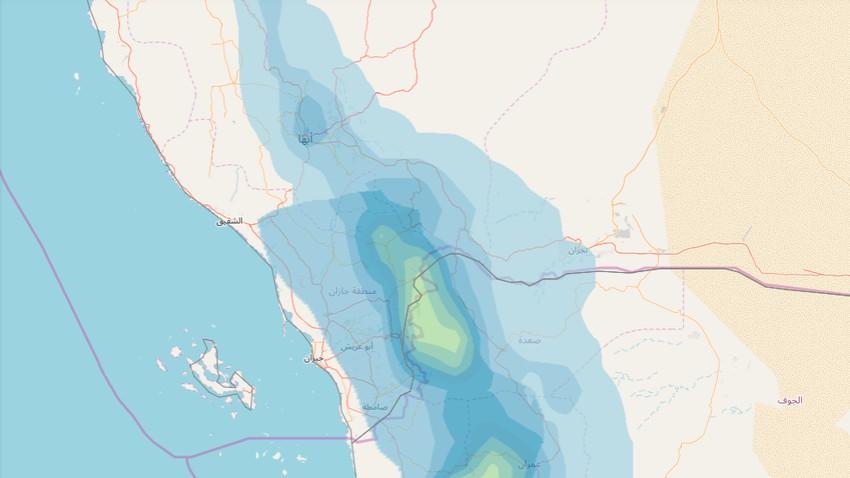 السعودية | الأمطار الرعدية تتجدد نهار الاثنين على مرتفعات جازان وعسير وتبدأ بالتراجع اعتباراً الثلاثاء
