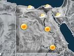 مصر   منخفض جوي خماسيني و زخات أمطار رعدية على سيناء
