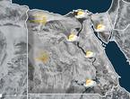 مصر | منخفض جوي خماسيني و اجواء مغبرة على غرب البلاد الاثنين