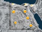 مصر | زخات خفيفة من المطر على الساحل الشمالي و سيناء