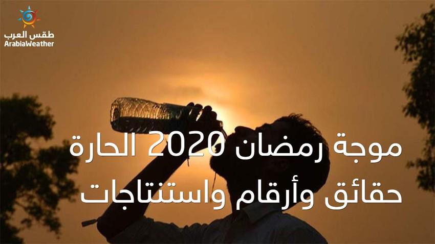 موجة رمضان 2020 الحارة... حقائق وأرقام واستنتاجات