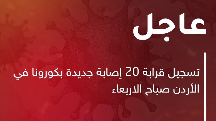 الصحة   تسجيل قرابة 20 إصابة جديدة بكورونا في الأردن صباح الاربعاء