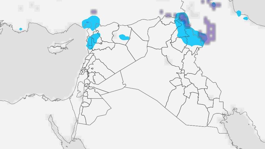 العراق | فرصة لزخات عشوائية من المطر الثلاثاء