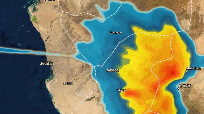 مكة المكرمة - 6:10م | سُحب رعدية تقترب مكة المكرمة الآن .. والأمطار محتملة بعد قليل