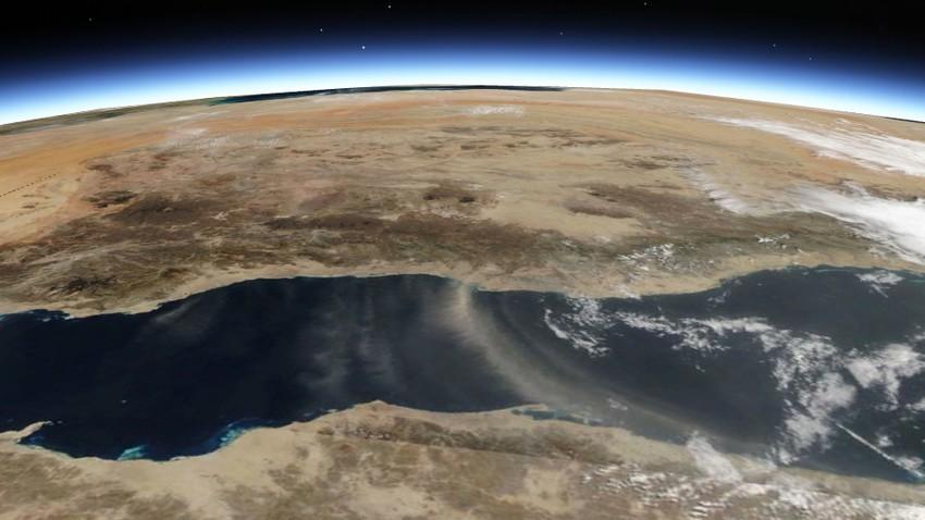 شاهد | غبار شمال جده ورياح الصبا كما ظهر من الفضاء