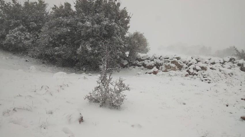 الأردن: تعمق تأثير المنخفض الجوي اليوم