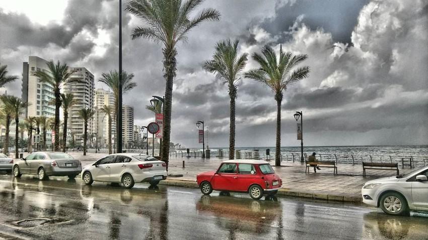 لبنان | الأحد .. تقلبات جوية وأمطار رعدية متوقعة تشمل العاصمة بيروت