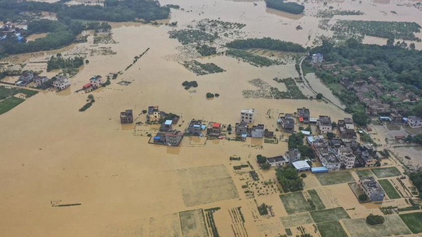 China | 12 deaths and 144 million material losses due to flooding in a number of provinces