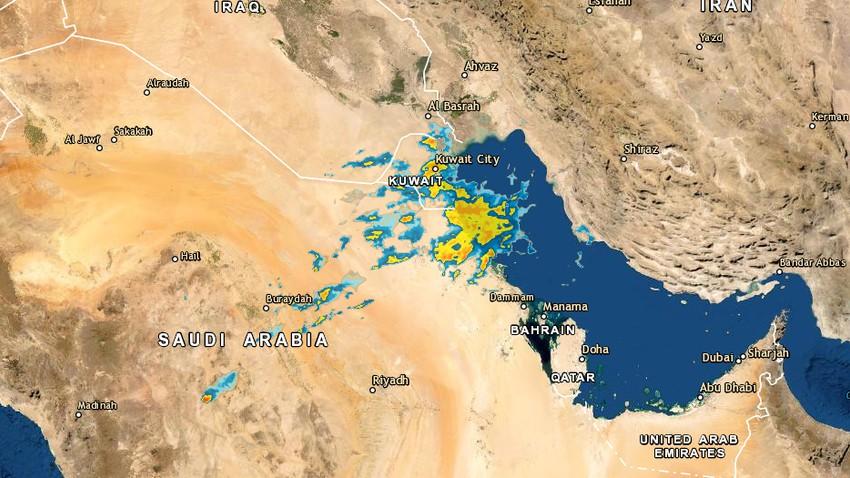 تحديث 3:40م | استمرار الأمطار الرعدية في هذه المناطق هذه الليلة