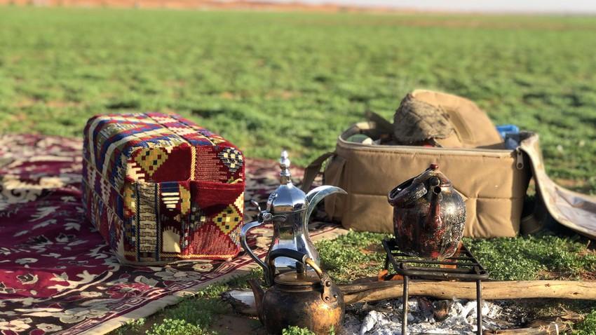 السعودية | أجواء ربيعية جميلة مناسبة للرحلات والكشتات الجمعة والسبت