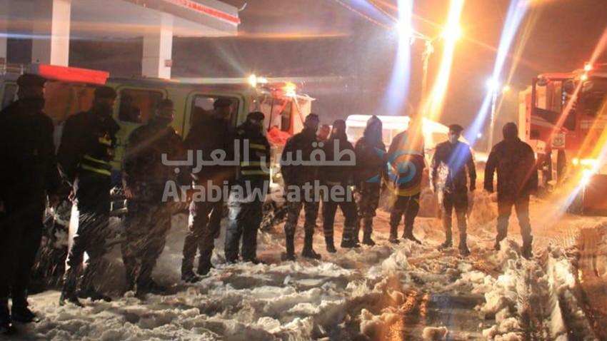 الأردن | الدفاع المدني يتعامل مع 2533 حالة اسعاف منذ بداية المنخفض الجوي