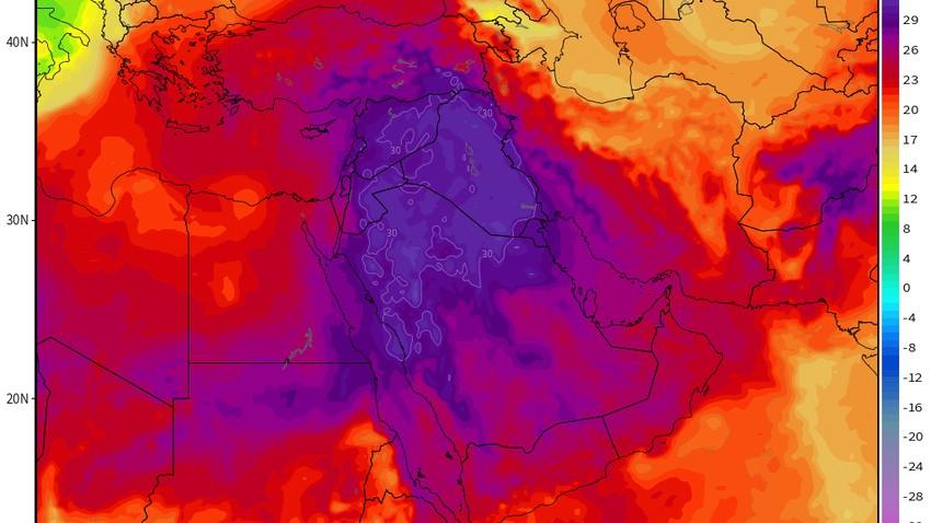 موجة حر تزور البلاد وأجواء غير إعتيادية