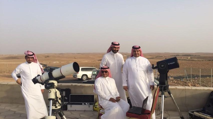 عاجل | تعذر رؤية هلال شهر شعبان في مرصد تمير في السعودية بسبب العوالق الترابية الكثيفة