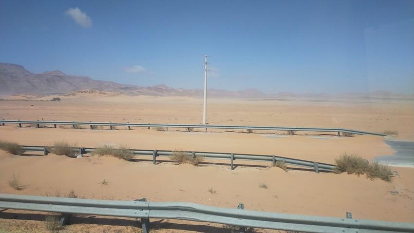 الأردن : هذه الطرق مُغلقة بسبب الأجواء المُغبرة | 12/3/2021