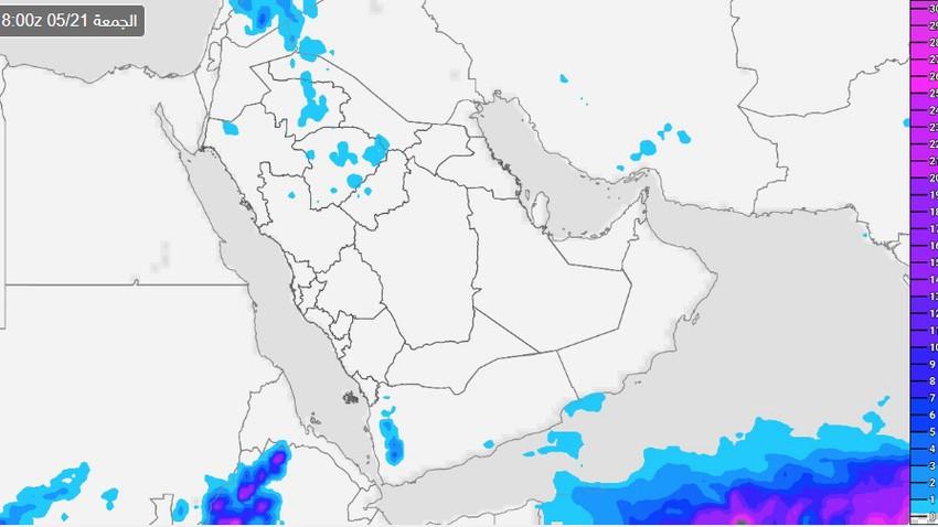 السعودية | حالة محدودة من عدم الإستقرار وفرصة للأمطار على 5 مناطق يوم الخميس