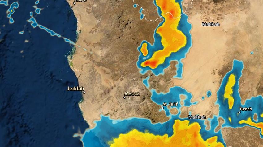 مكة المكرمة - 10:15م | سُحب رعدية وأمطار محتملة خلال الساعات القادمة .. تفاصيل
